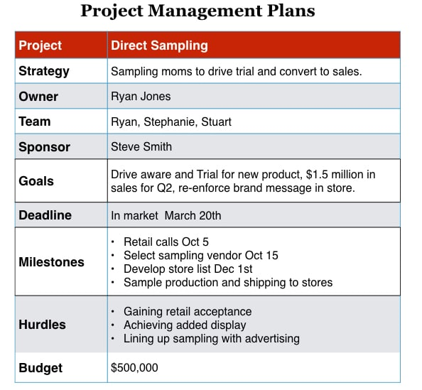 How to write a smart Brand Plan Project Plans